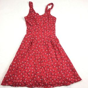 Lauren Conrad Disney Dress Red Floral Minnie Mouse